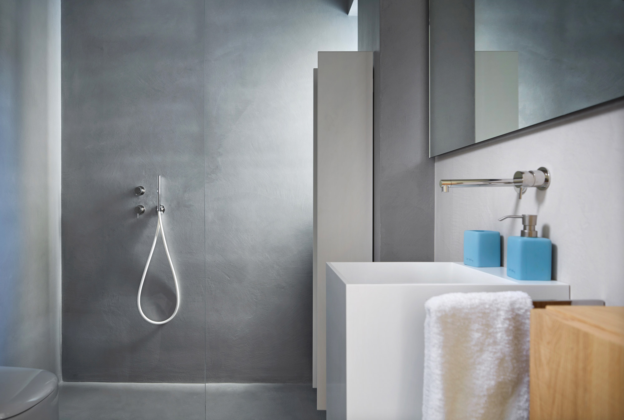 How to create a new bathroom without tiles ideal work for Mattonelle bagno