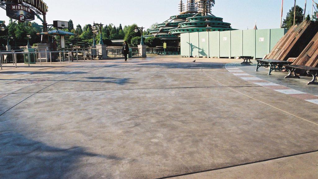 Pavimentazione in cemento spampato EuroDisney
