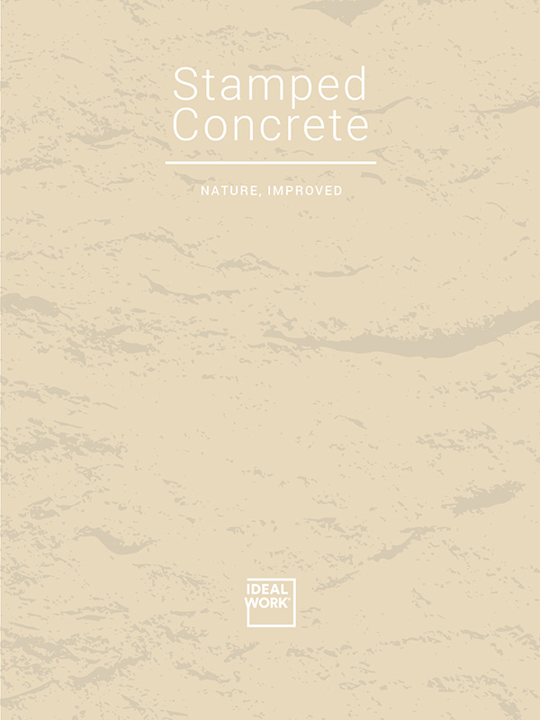 Textured concrete floor for interiors and exteriors - Ideal Work