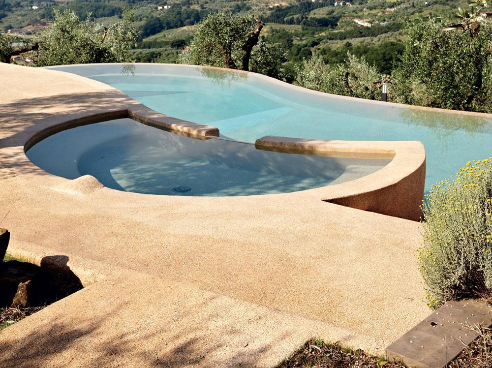 bordo piscina in sassolavato